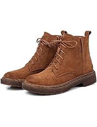 KHSKX-3 5 Cm Marrón Zapatos Niños Invierno Plus Zapatos De Algodón De Terciopelo Con