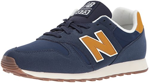 New Balance Men's 373 Trainers, Blue (Blue/Yellow), 10.5 UK 45 EU