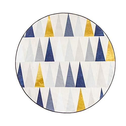 BAIJJ Teppiche Teppich Teppich Bodenmatte Traditioneller Teppich Nordic Wohnzimmer Runde Haushalt Schlafzimmer Fuß Pad Dekoration (Farbe: Gold, Größe: 150 * 150 cm) - Füße Runde Gold Teppich