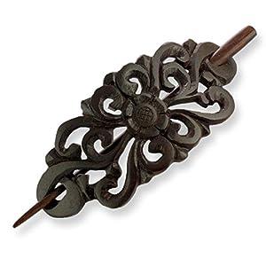 ISLAND PIERCINGS Haarspange Clip Klassisches Design Handarbeit aus Holz HS51
