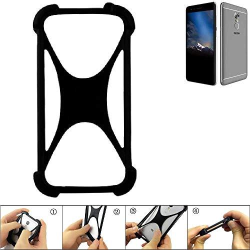 K-S-Trade Bumper Phicomm Energy 4s Silikon Schutz Hülle Handyhülle Silikoncase Softcase Cover Case Stoßschutz, schwarz (1x)