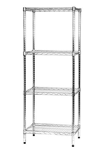 Archimede Sistema Componibile, Scaffale Quattro Ripiani, Grigio (Cromato), 60 x 45 x 160 cm