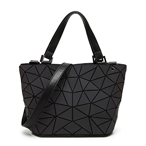 YUEER Lingge Geometrische Tasche Unregelmäßig Leuchtend Eimer Tasche Falttasche Damen Handtasche Umhängetasche,L-OneSize -