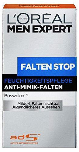 L'Oreal Men Expert Falten Stop Feuchtigkeitspflege, Anti-Mimik-Falten, 50 ml