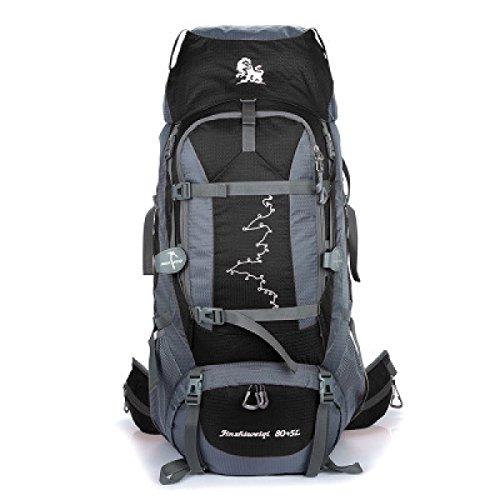 Outdoor Bergsteigen Tasche Camping Wandern Rucksack 85L Beruflich Trägt System Black
