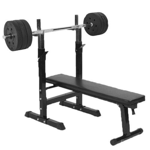 Gorilla Sports Weight Bench With 38kg Vinyl Weight Set Uksportsoutdoors