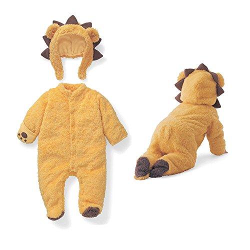 Baby Länge Ärmel Kleidung, Morbuy Infant Tier Jumpsuit Baby unisex Krabbeln Pyjamas Flanell mit Kapuze Strampler Mädchen Schneeanzug Jumpsuit (73, Gelb)