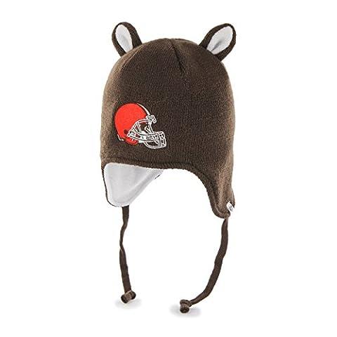NFL '47Little Monster Chapeau de tricot avec Animal oreilles et Cache-oreilles, mixte, marron,