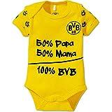 BVB Kinder Babybody, gelb/schwarz, 50/56, 2466550