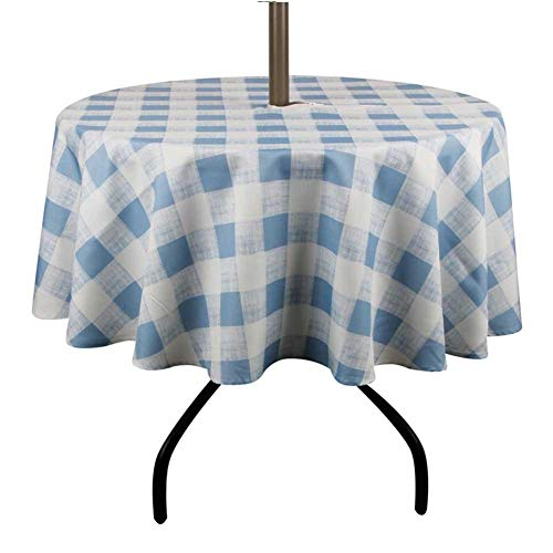 terynbat Patio-Tischdecke im Freien mit Regenschirm-Loch-Reißverschluss-Wasser-Flecken-beständiger Gewebetischdecke für Regenschirm-Tabelle cost-effective -