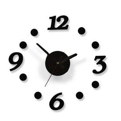 Pingofm Red Heart-shaped bricolage coller couper la personnalité de l'horloge horloges salon mur moderne-clock Horloge murale arts créatifs Pendules murales,16 pouces,16 pouces