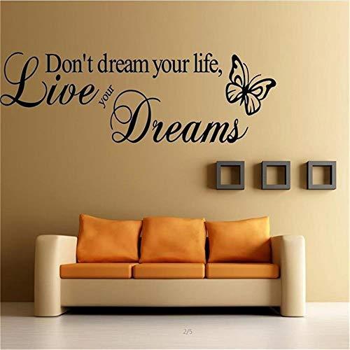 Geschnitzte Wandtattoo Träume Nicht Dein Leben