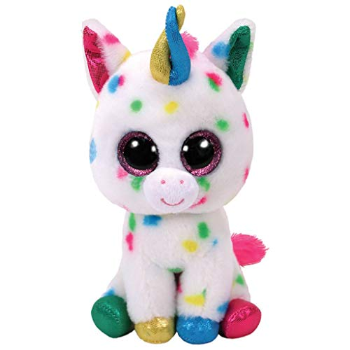 """Beanie Boo Unicorn - Harmonie - Colourful - 23cm 9"""""""
