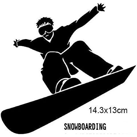 Eaglerich Grande Pattinaggio di figura Snowboard Snow Board Sports riflettente della decalcomania del vinile Adesivi finestra del camion dell'automobile Adesivi per Auto