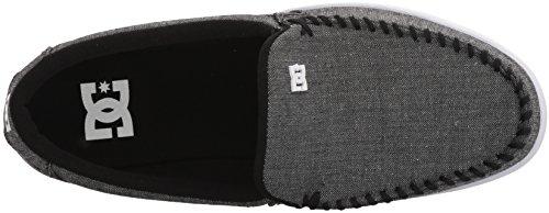DC Shoes Mens Villain Slip-On Low Top Shoes Black BWF