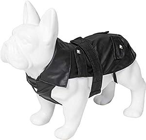 Hunderegenmantel aus wasser- und winddichtem Material. Brustumfang: 42 cm, Länge: 44 cm, Nackenumfang: 38 cmAtmungsaktiv und strapazierfähig. Wenn draußen alles nass ist, verschafft der Hunde Regenmantel Ihrem Hund einen perfekten Schutz gegen Regen ...