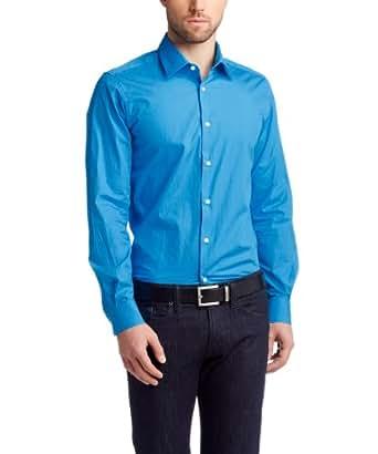 ESPRIT Collection Herren Businesshemd Slim Fit 123EO2F001, Gr. 37/38 (S), Blau (434 STRONG BLUE)