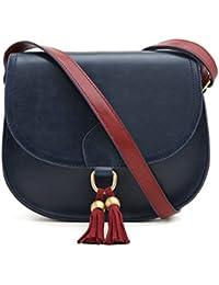 ECOSUSI Sac Porté Epaule Rétro pour Femme Sacoche de Selle Sac en Bandoulière Femme Saddle Bag
