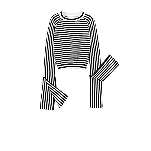 bel langärmelige Halteband Kits und gestrickte Pullover Pullover weiblich, S, (Hässliche Pullover-kit)