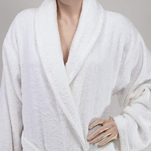 Textiles Direct Blanco Otterman Albornoz 100% algodón Turco, 500g/m² Pesado