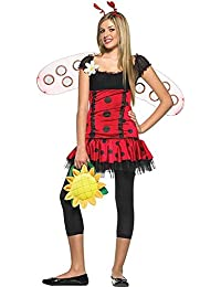 Leg Avenue Teenagers Ladybird Costume Black/Red Small