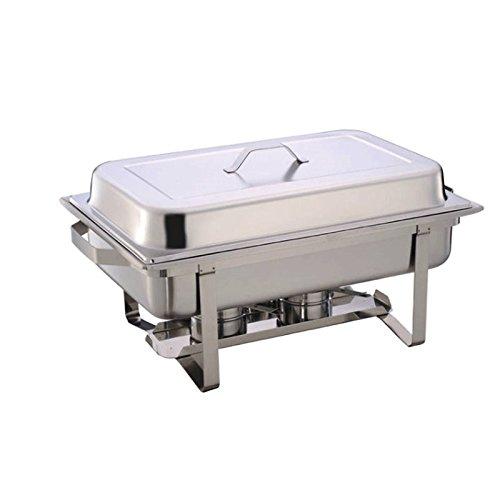 Chafing Dish Speisenwärmer Warmhaltebehälter aus Edelstahl