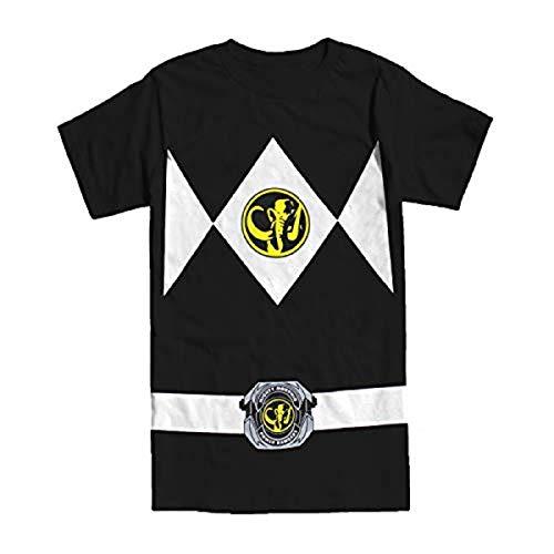 Ranger T Kostüm Power Shirt - Power Rangers schwarz Rangers Kostüm Erwachsene T-Shirt, Large