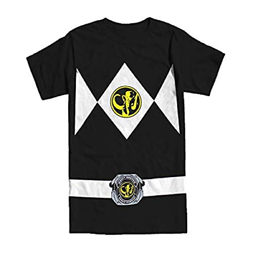 Kostüm Herren Rangers Power - Power Rangers schwarz Rangers Kostüm Erwachsene T-Shirt, Large