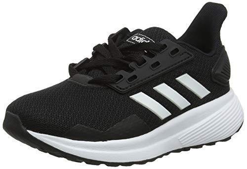 adidas Unisex-Kinder Duramo 9 K Laufschuhe Schwarz FTWR White/Core Black, 39 EU
