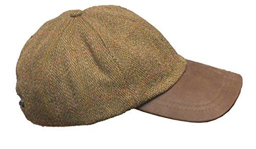 9f8c10a6a65 Walker   Hawkes - UNI-Sex Derby Tweed Baseball Cap Leather Peak Hunting  Shooting Countrywear Hat - One-Size - Brown Tweed - Buy Online in KSA.