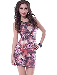 Highly Soft Floral Print Bodycon Dress
