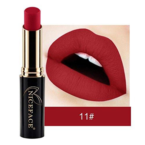 Rouge à lèvres, Malloom Lingerie à lèvres Mat Rouge à lèvres liquide Maquillage de lèvres imperméable à l'eau (11#)