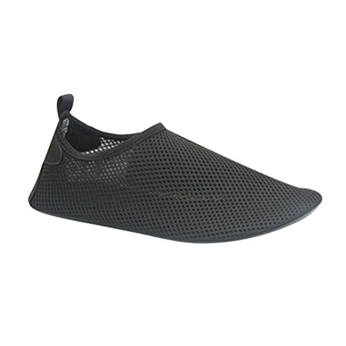 Zhuhaitf Lightweight Unisex Adult Beach Sports Breathable Non-Slip a Piedi Nudi Aqua Shoes Nuotare Diving Yoga Black