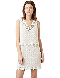 c9861142eaa Topshop Crochet Lace Overlay Ivory Summer Dress (P54)