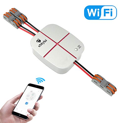 eMylo Smart WiFi Fernbedienung General Modification Remote Kontrolle mit Smart APP 2-Gang Funktion für IOS Android, Kompatibel mit Alexa Google App Switch