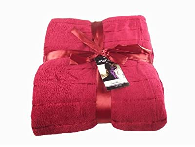 Red Soft Sofa Or Bed Throw Double Size 150 X 200cm
