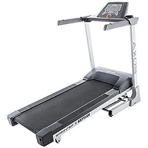 Kettler Laufband Sprinter 5 – effektiver Heimtrainer für Einsteiger – Laufband mit Steigung – professionelles Fitnessgerät mit LED-Display – silber & schwarz