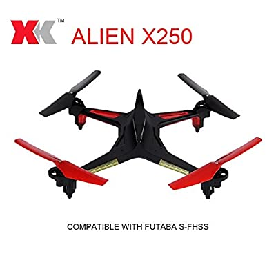 XK Alien X250 5.8G FPV Quadcopter 2.4G 4CH 6 Axis Gryo RC Drone One Key To Roll Failsafe Compatible With Futaba S-FHSS