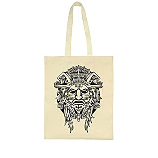 idcommerce Tribal Aztec Face Tattoo Design Tote Bag