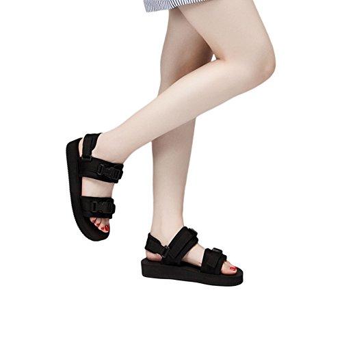 Meijunter Homme Noir Respirant Plage Chaussures Appartements Chaussons Confort Cool Des sandales Des sports Doux Noir