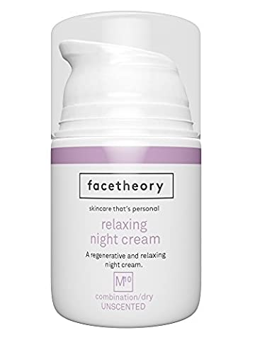 Facetheory Night Cream with Hyaluronic Acid and Vitamin C. Hydrating Anti Aging Moisturiser Fights Fine Lines and Wrinkles. (50ml Unfragranced)