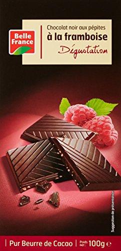 Belle France Chocolat Noir Framboise 100 g - Lot de 8