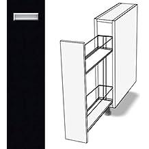 Premium Ambiente EOE135 Unterschrank Apothekerschrank Vollauszug  Softclosing Eingelassener Griff EURODEKOR® (Breite 20cm,