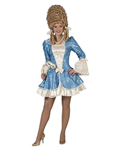 Kostüm Madame Franca Damen Rokoko Barock Gräfin Größe 44/46 Kleid Renaissance blau weiß Adel...