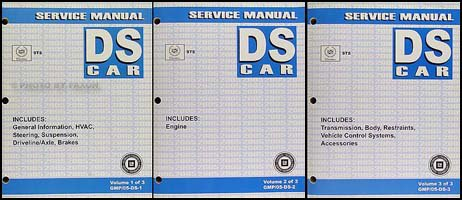 2005-cadillac-sts-original-repair-shop-manual-3-volume-set