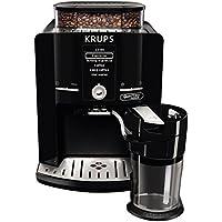 Krups EA82F8  - Cafetera (Independiente, Máquina espresso, 1,7 L, Granos de café, Molinillo integrado), Negro