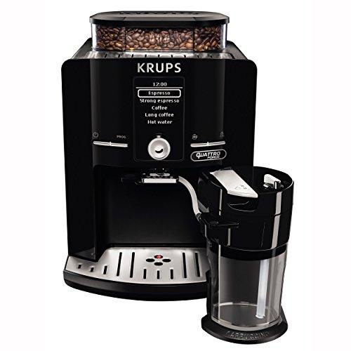 Krups EA82F8 Kaffeevollautomat Latt'Espress Quattro Force, One-Touch Funktion, Milchbehälter, 1,7 L, 15 bar, schwarz / edelstahl