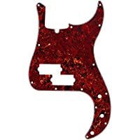 IKN–1pcs rojo de caparazón de tortuga de 3capas golpeador para Precision Bass PB Bass Guitarra