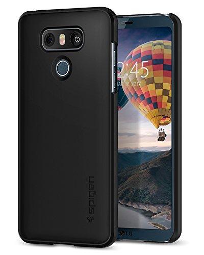 Spigen LG G6 Hülle, [Thin Fit] Passgenaues [Schwarz] HartPC Hardcase Schale Schlanke Handyhülle Schmal Schutzhülle für LG G6 Case Cover Black (A21CS21231)