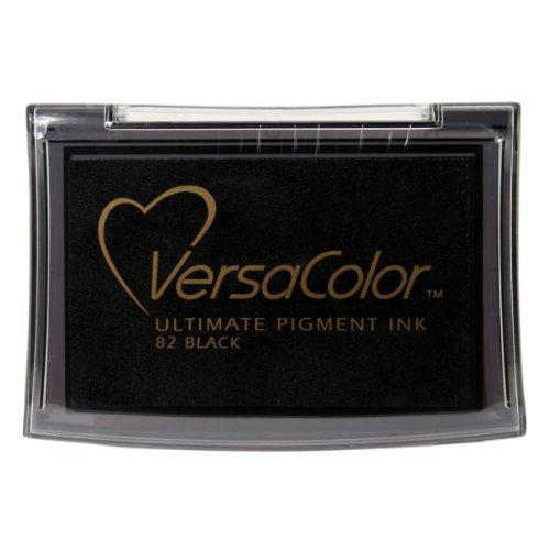 Tsukineko VC082 Vesacolor Stempelkissen, Synthetic Material, schwarz, 9.9 x 6.8 x 1.7 cm